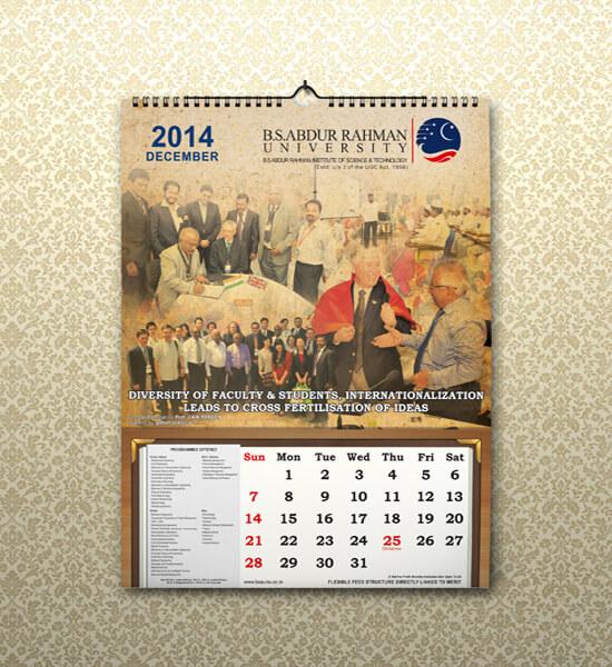 University Calendar Design : B s aabdur rahman university calendar design getnoticed