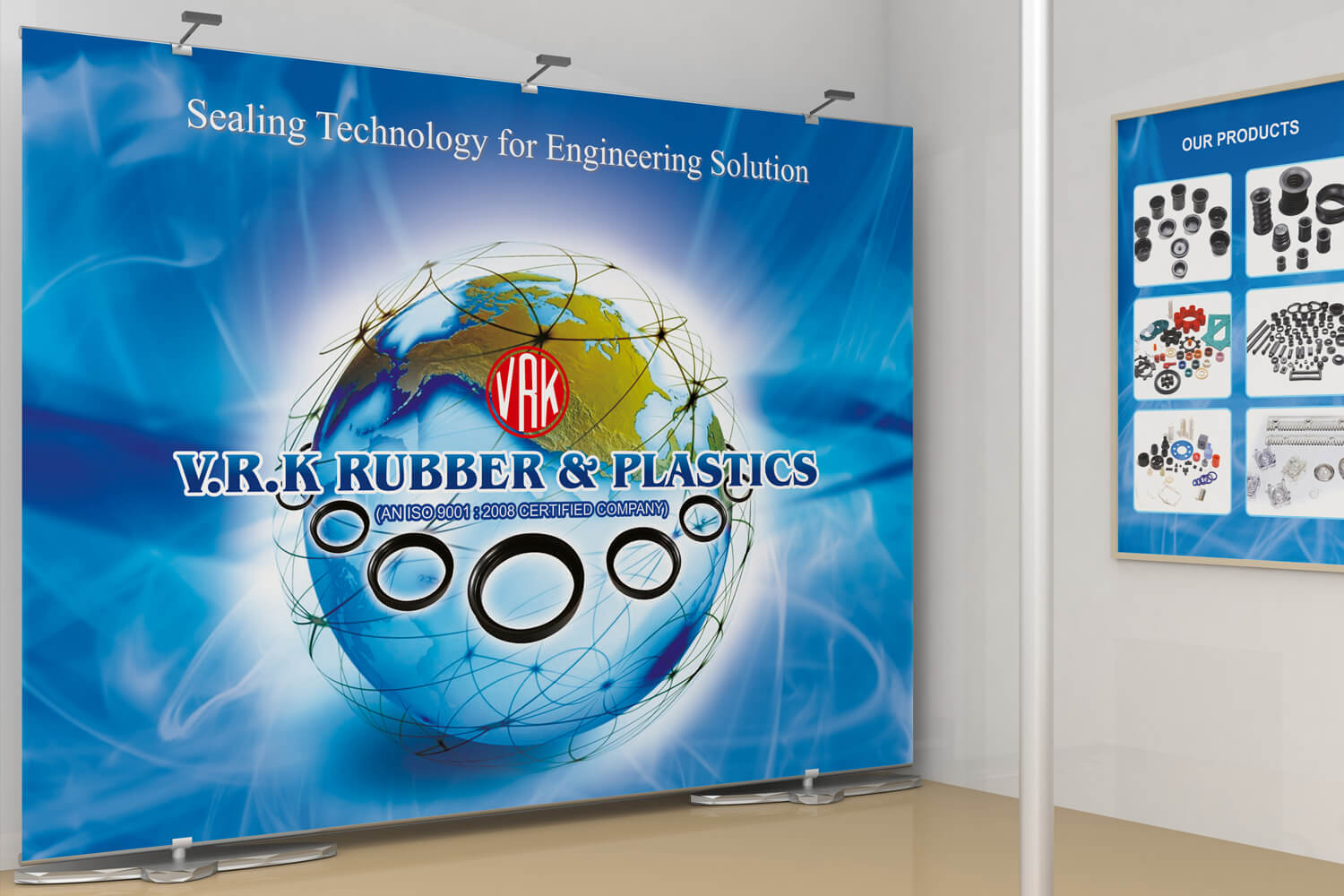 Exhibition Stall Posters : Vrk rubbers exhibition stall design printing getnoticed