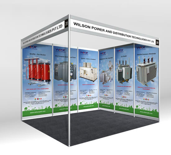 Exhibition Stall Invitation : Wilson power exhibition stall designing printing